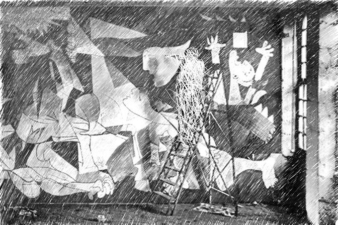 picasso working on guernica original photo dora maar 1937